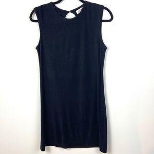 Equipment 100% Silk Black Sleeveless Dress Large